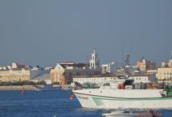 Marismas e iglesia de Isla Cristina