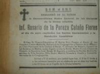 Esquela Superia General Rosario de La Pureza