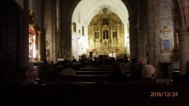 Nochebuena, iglesia de Santiago, Almería