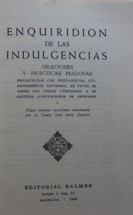 Enquiridión de indulgencias