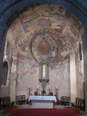 Pantócrator y nave de la iglesia